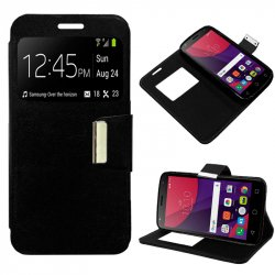 Funda Flip Cover Alcatel Pixi 4 (5) 4G / Smart 7 Turbo Liso Negro