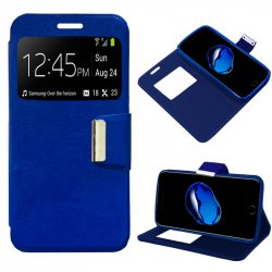 Funda Flip Cover iPhone 7 Plus Liso Azul