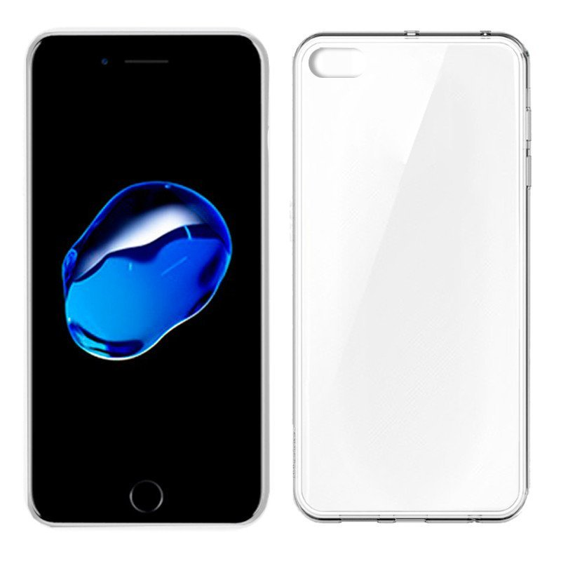 Funda Silicona iPhone 7 Plus / iPhone 8 Plus (Transparente)