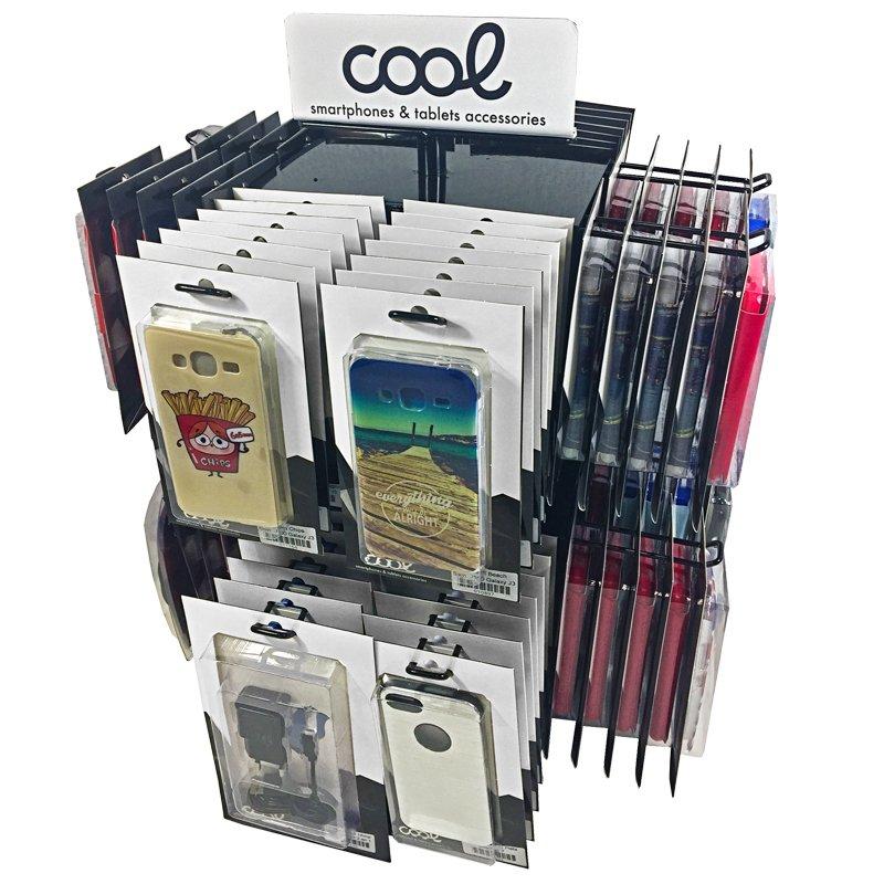 Expositor COOL Accesorios Metalico Giratorio Sobremesa (Negro)