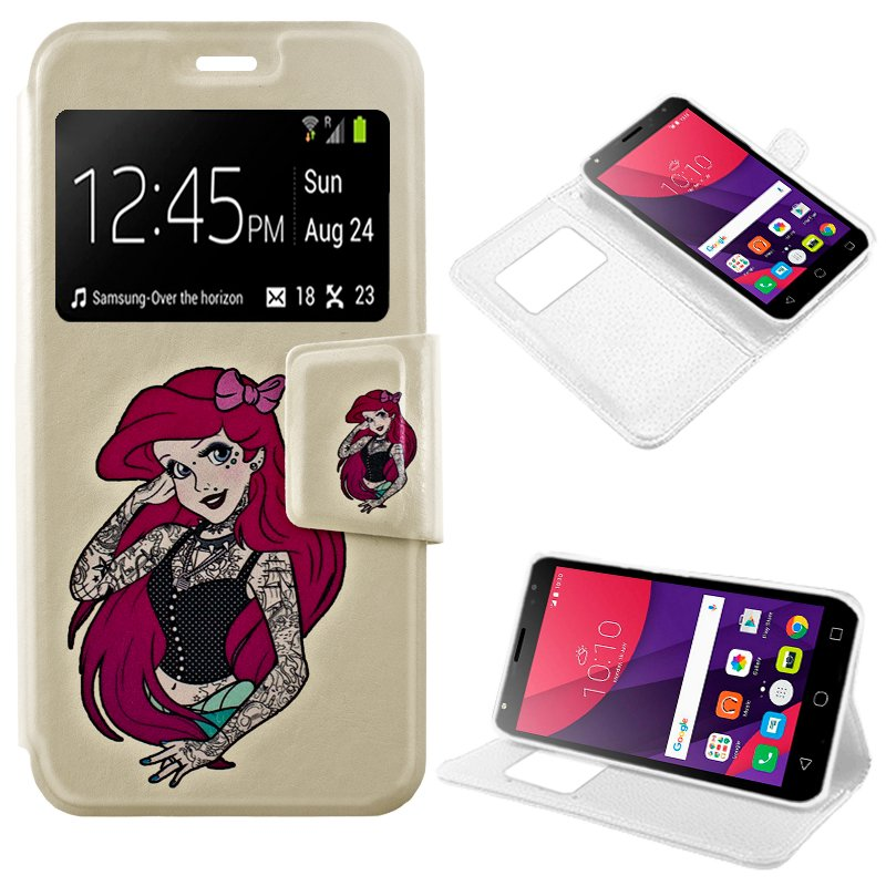 Funda Flip Cover Alcatel Pixi 4 (5) 3G Dibujos Girl