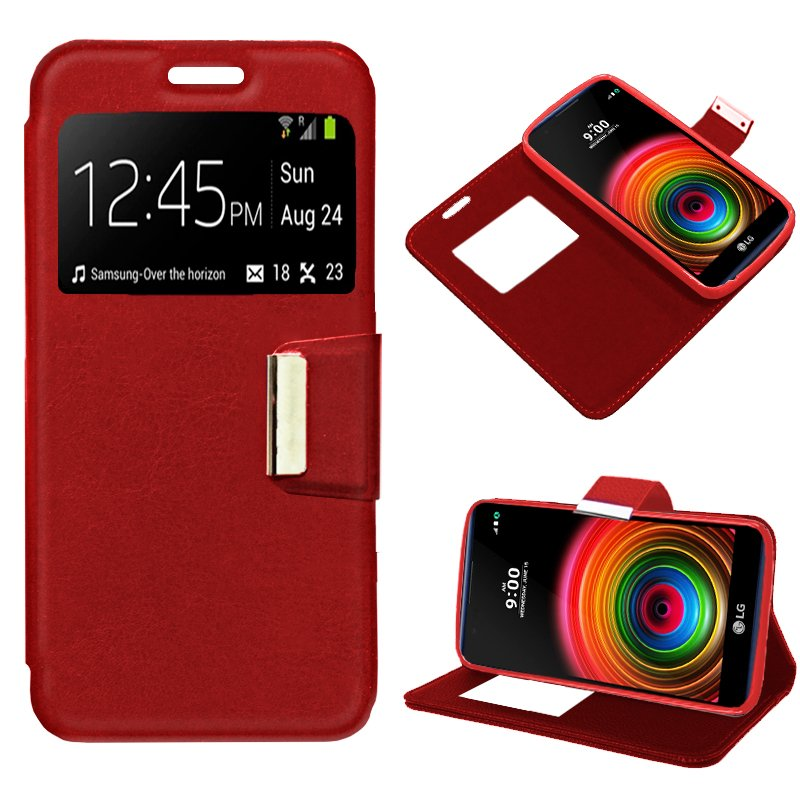 Funda Flip Cover LG X Power Liso Rojo