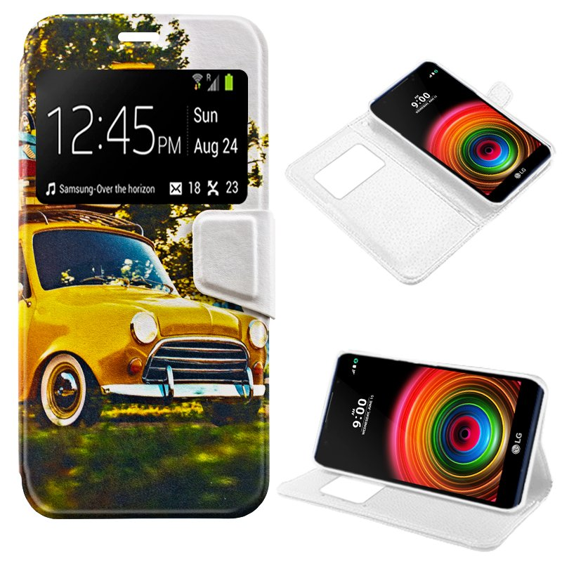 Funda Flip Cover LG X Power Dibujos Car