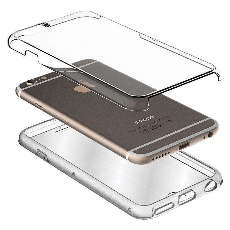 Funda Silicona 3D iPhone 7 / iPhone 8 (Transparente Frontal + Trasera)
