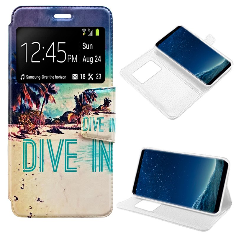Funda Flip Cover Samsung G955 Galaxy S8 Plus Dibujos Dive