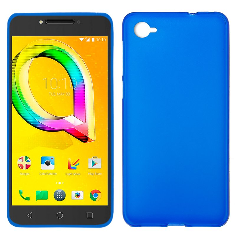 Funda Silicona Alcatel A5 Led (Azul)
