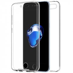 Funda Silicona 3D iPhone 7 Plus / iPhone 8 Plus (Transparente Frontal + Trasera)