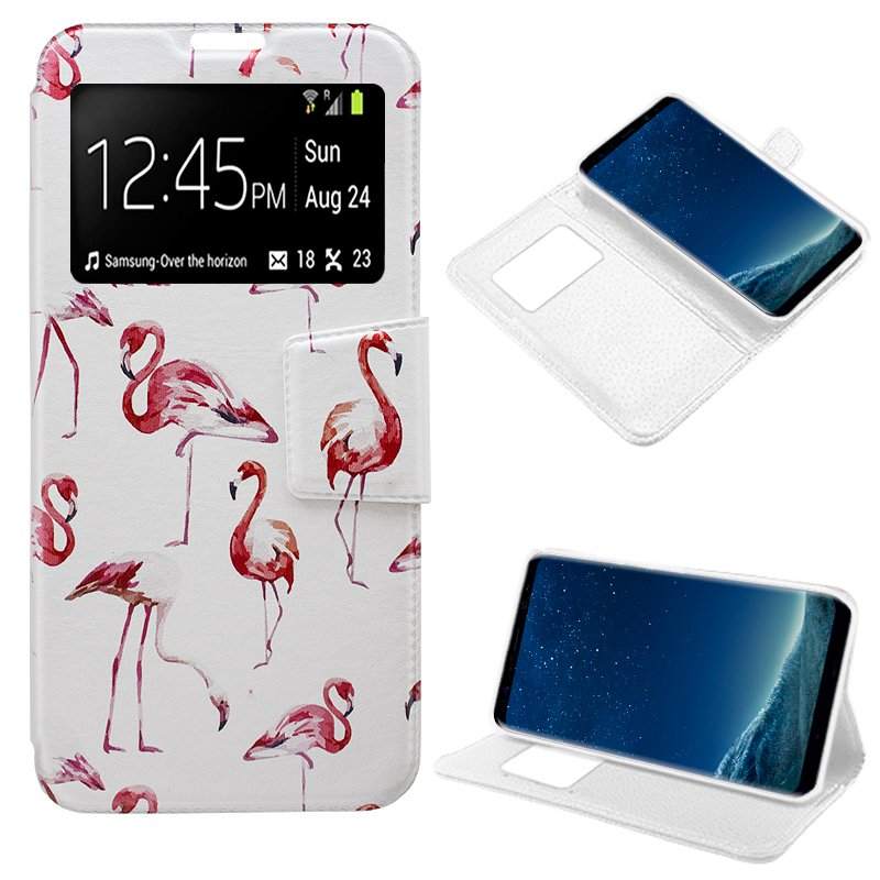 Funda Flip Cover Samsung G955 Galaxy S8 Plus Dibujos Flamencos