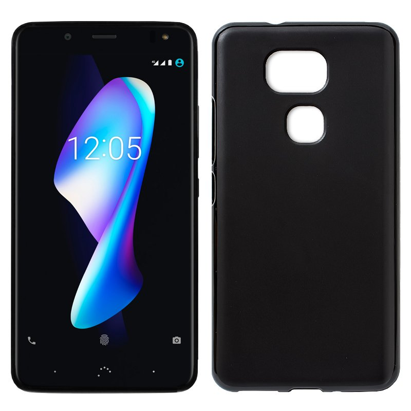 Funda Silicona BQ Aquaris V Plus / VS Plus (Negro)