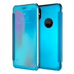 Funda Flip Cover iPhone X Clear View Azul