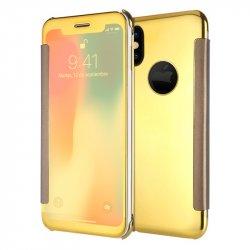 Funda Flip Cover iPhone X Clear View Dorado