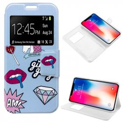 Funda Flip Cover iPhone X Dibujos Lips