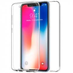 Funda Silicona 3D iPhone X (Transparente Frontal + Trasera)