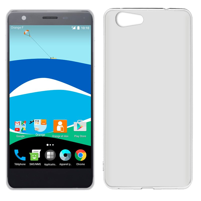 Funda Silicona ZTE Blade V770 / Orange Neva 80 (Transparente)