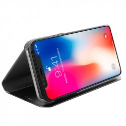 Funda Flip Cover iPhone X Clear View Negro