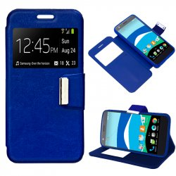Funda Flip Cover ZTE Blade V770 / Orange Neva 80 Liso Azul