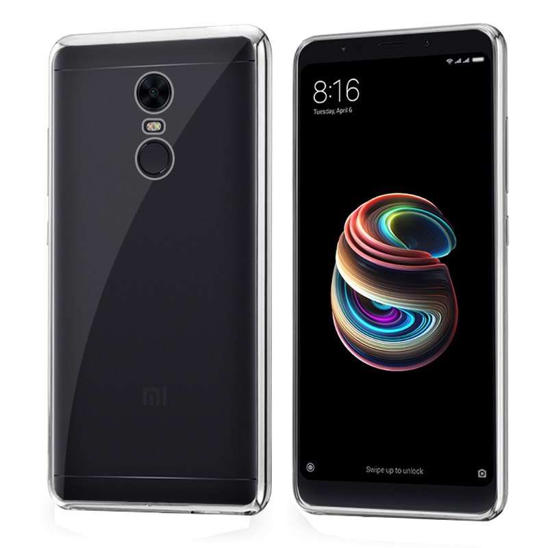 Carcasa Xiaomi Redmi 5 Plus Borde Metalizado (Plata)
