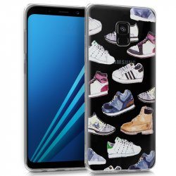 Carcasa Samsung A530 Galaxy A8 (2018) Clear Zapatillas