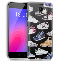 Carcasa Meizu M6 Clear Zapatillas