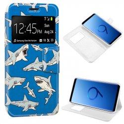 Funda Flip Cover Samsung G960 Galaxy S9 Dibujos Shark