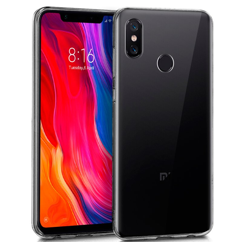 Funda Silicona Xiaomi Mi 8 / Mi 8 Pro (Transparente)