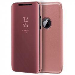 Funda Flip Cover iPhone XS Max Clear View Rosa