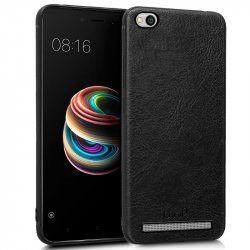 Carcasa Xiaomi Redmi 5A Leather Piel Negro
