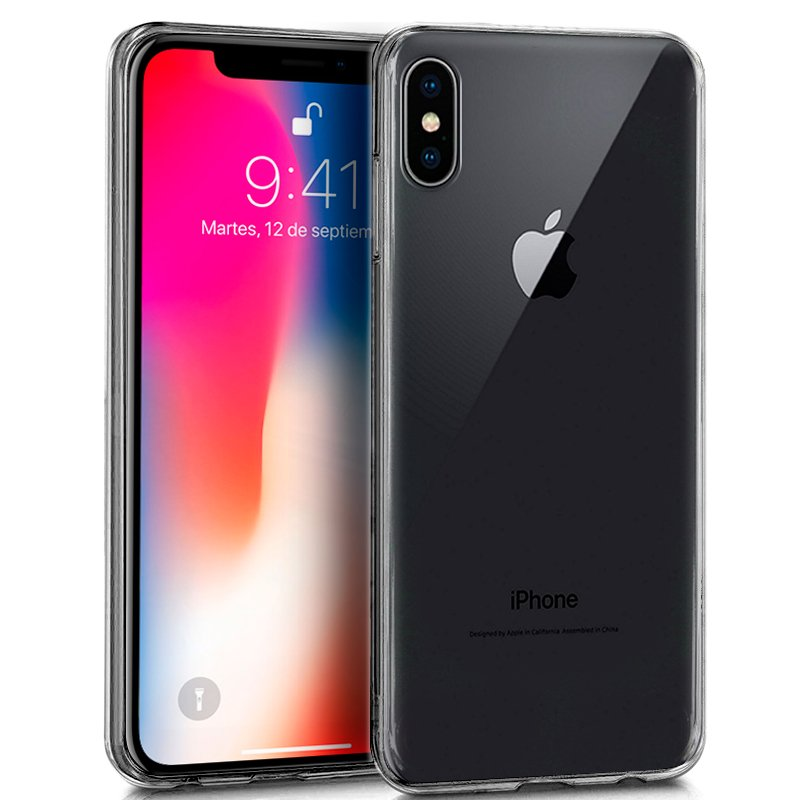 Funda Silicona iPhone X / iPhone XS (Transparente)