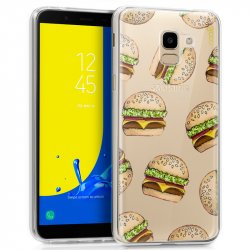Carcasa Samsung J600 Galaxy J6 Clear Hamburger