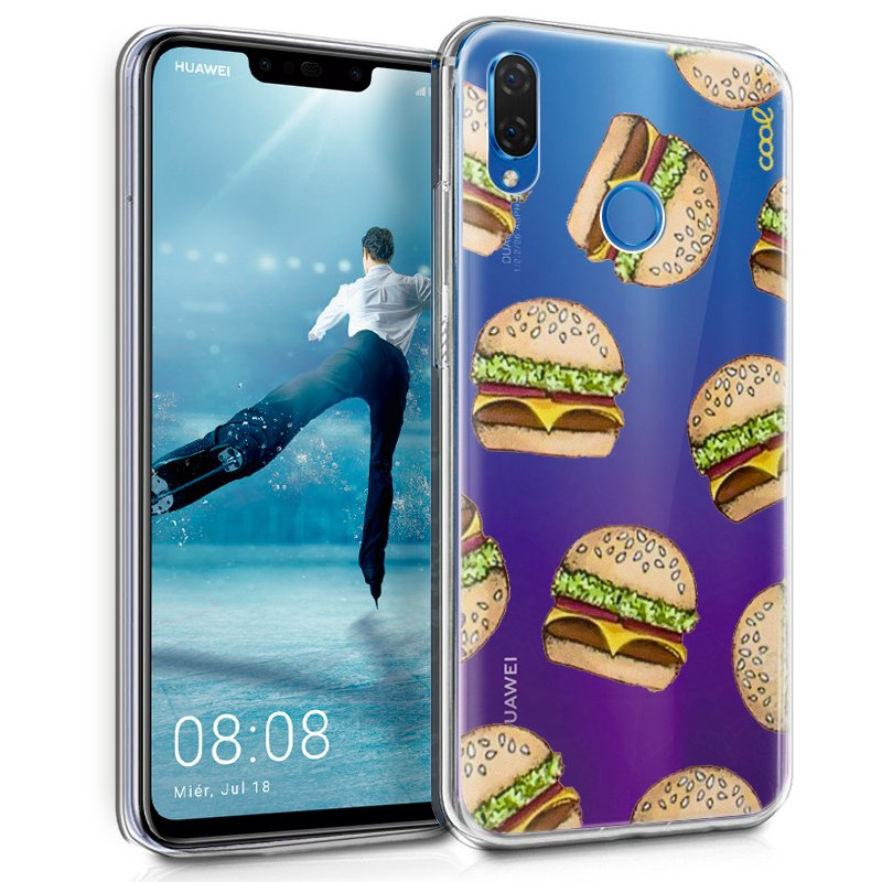 Carcasa Huawei P Smart Plus Clear Burger