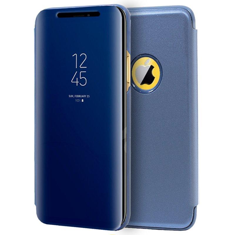 Funda Flip Cover iPhone XR Clear View Azul