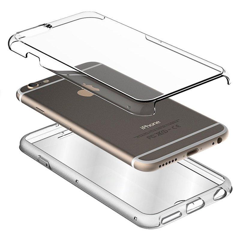Funda Silicona 3D iPhone XR (Transparente Frontal + Trasera)