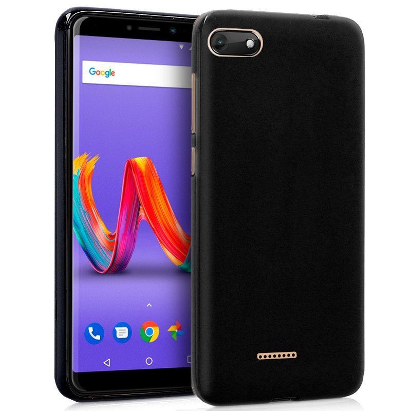 Funda Silicona Wiko Harry 2 (Negro)