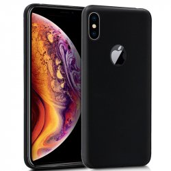 Funda Silicona iPhone XS Max (Negro)