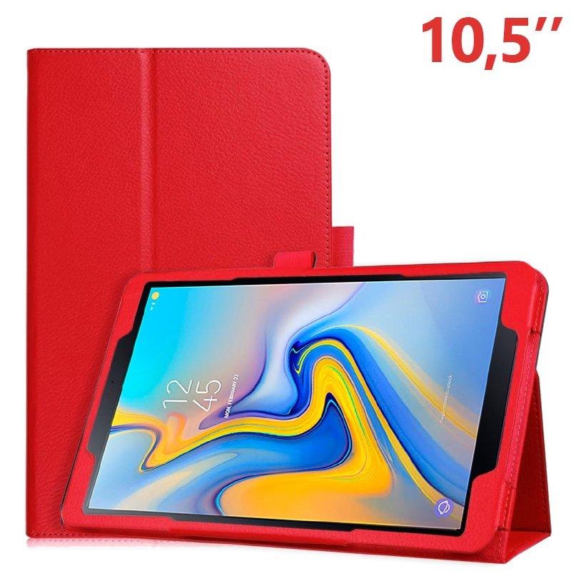 Funda Samsung Galaxy Tab A (2018) T590 / T595 Polipiel Liso Rojo 10.5 pulg