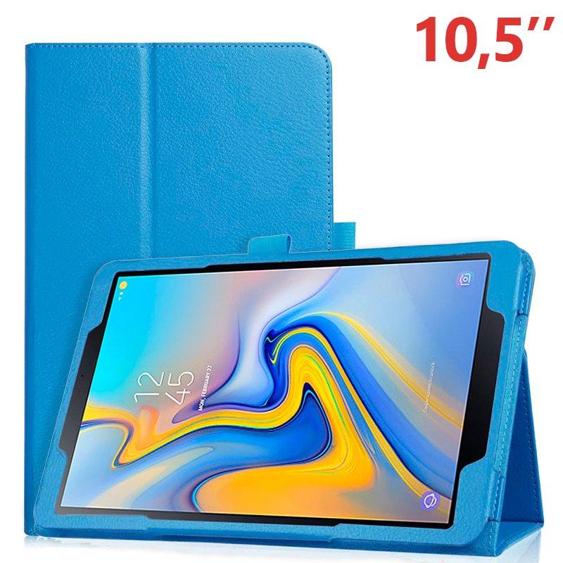 Funda Samsung Galaxy Tab A (2018) T590 / T595 Polipiel Liso Azul 10.5 pulg