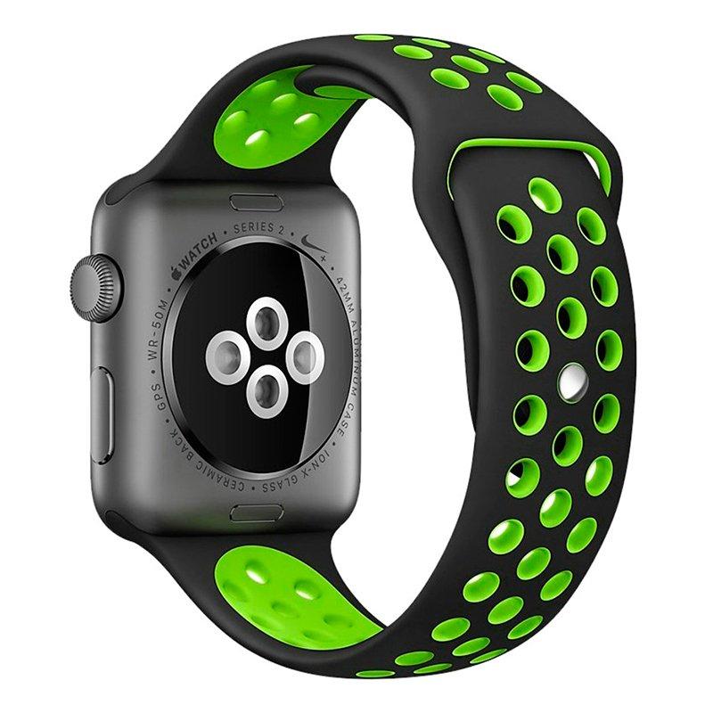 Correa Apple Watch Series 1 / 2 / 3 / 4 / 5 (42 / 44 mm) Sport Negro