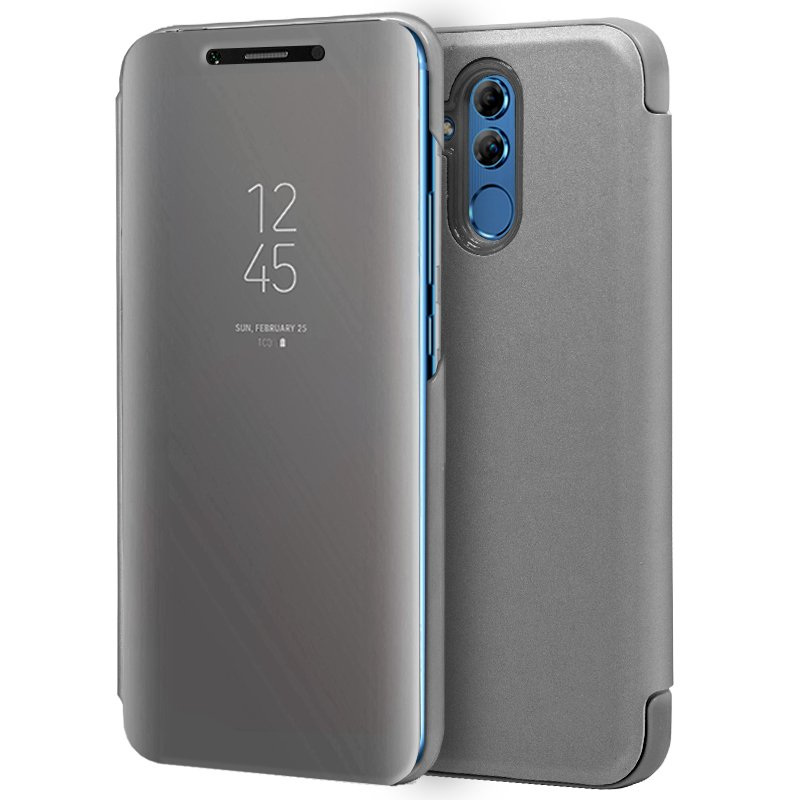 Funda Flip Cover Huawei Mate 20 Lite Clear View Plata