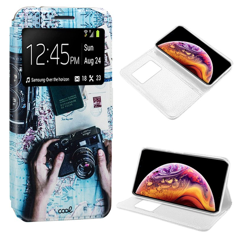 Funda Flip Cover iPhone XS Max Dibujos Travel