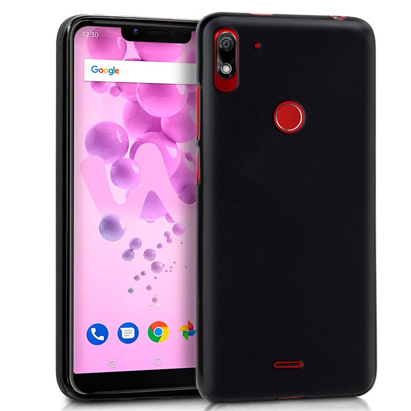 Funda Silicona Wiko View 2 Plus (Negro)