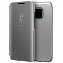 Funda Flip Cover Huawei Mate 20 Pro Clear View Plata