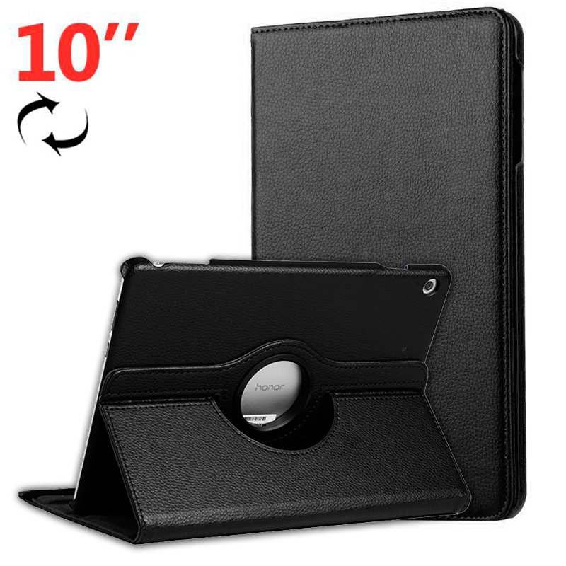 Funda Huawei Mediapad T5 Polipiel Liso Negro 10 pulg