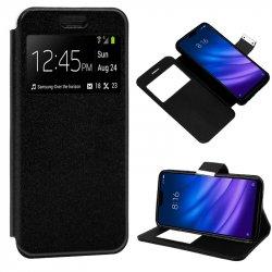 Funda Flip Cover Xiaomi Mi8 Lite Liso Negro