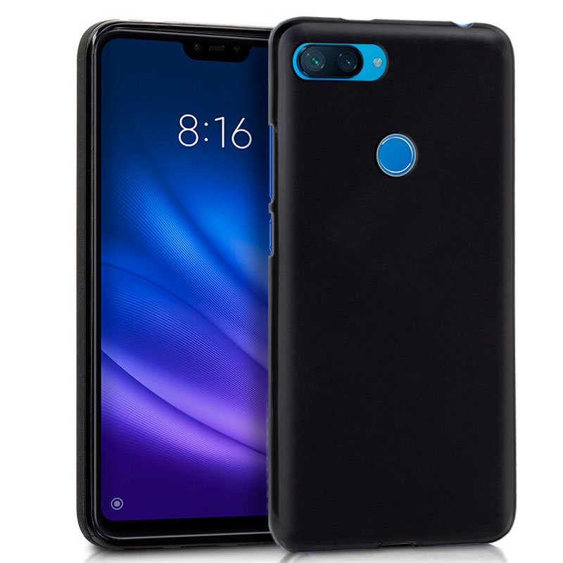 Funda Silicona Xiaomi Mi 8 Lite (Negro)