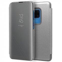 Funda Flip Cover Huawei Mate 20 X Clear View Plata