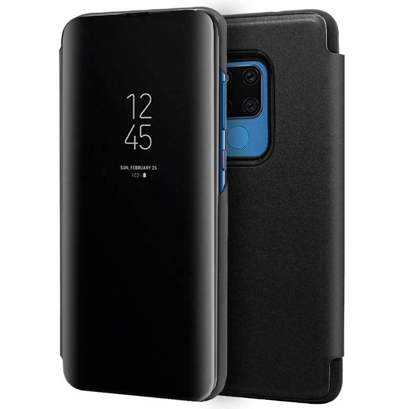 Funda Flip Cover Huawei Mate 20 X Clear View Negro