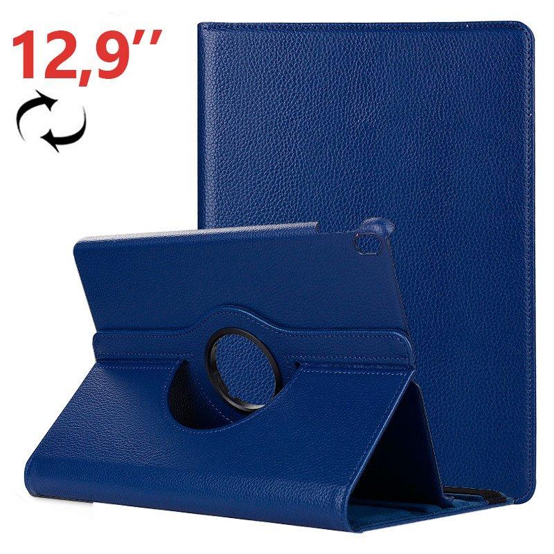 Funda iPad Pro 12.9 pulg (2018) Giratoria Polipiel Azul