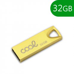 Pen Drive USB x32 GB 2.0 COOL Metal KEY Dorado