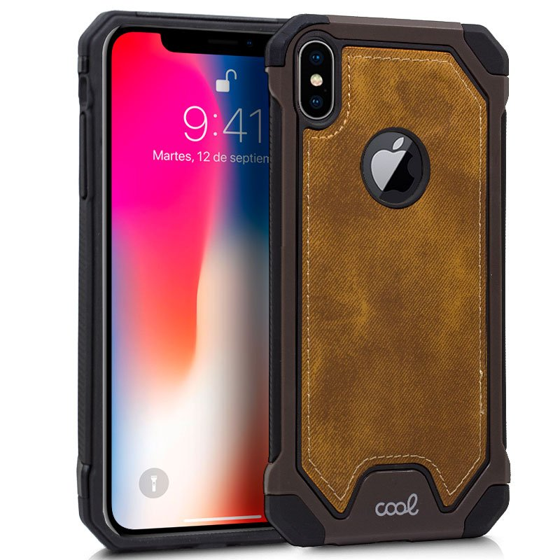 Carcasa iPhone XS Max Hard Tela Marrón