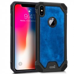 Carcasa iPhone XS Max Hard Tela Azul